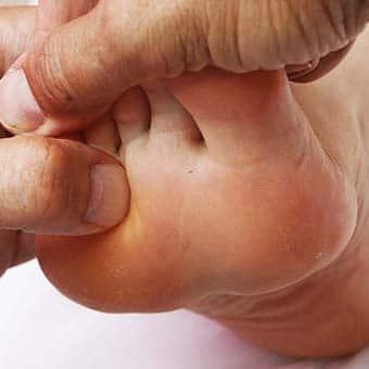 θεραπεία πόνου, νευρορεφλεξολογία, πίεση στο πόδι